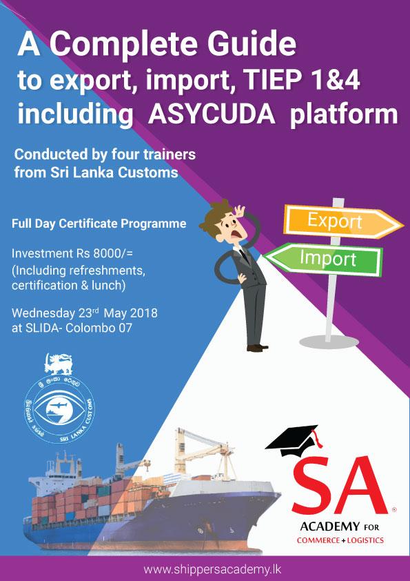Certificate programme on Customs Import/Export Procedures